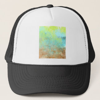 Abstract in Ocean Blue and Pea Green Trucker Hat