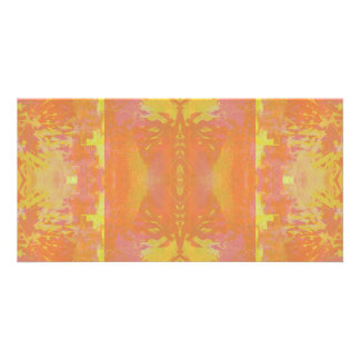 Abstract in Orange and Yellow Card