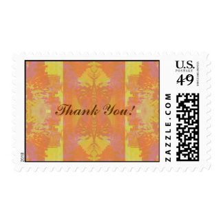 Abstract in Orange and Yellow - Thank You Postage
