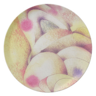 Abstract in Pastels Dinner Plates