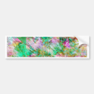 Abstract in Pink and Green Bumper Sticker