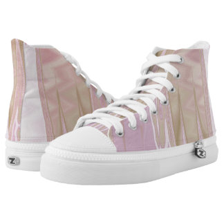 Abstract in Pink Hi Top Printed Shoes
