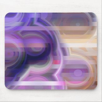 Abstract in Purple and Tan mousepad