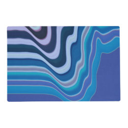 Abstract in purple blue and white placemat