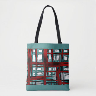 Abstract in Red and Blue Tote Bag