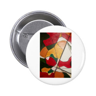 abstract in red and gold pinback buttons