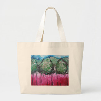 Abstract in Red and Green Canvas Bags