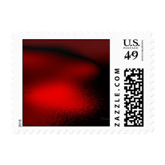 Abstract in Red Stamps