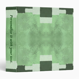 Abstract in Shades of Green 3 Ring Binder