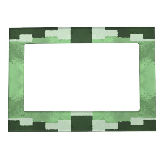 Abstract in Shades of Green Magnetic Photo Frame