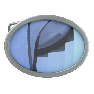 Abstract in shades on blue. belt buckle
