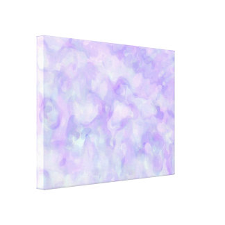 Abstract in Soft Purple and Blue Canvas Print