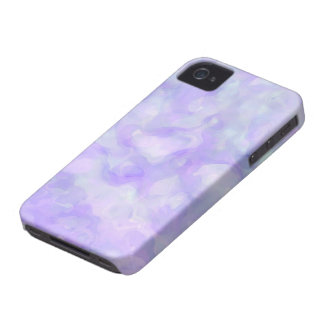 Abstract in Soft Purple and Blue iPhone 4 Covers