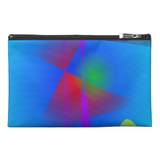 Abstract in the Blue Water Gradation Travel Accessory Bag