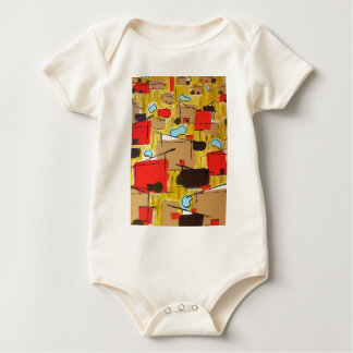 abstract in the eichlerhood by sludge baby bodysuit
