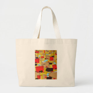abstract in the eichlerhood by sludge large tote bag