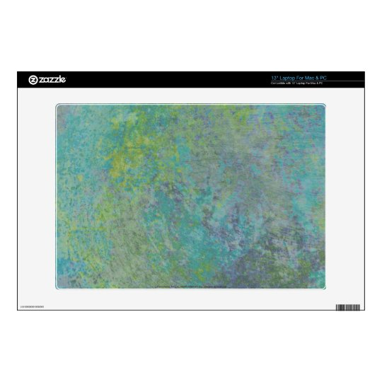 abstract in tie dye colors laptop skin