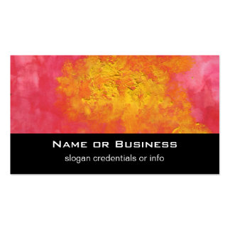 Abstract in Yellow and Red Surreal Splash of Sun Standard Business Cards