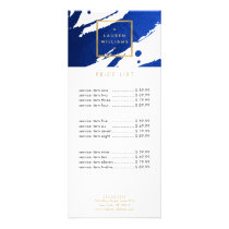 Abstract Indigo Blue Brushstrokes Rack Card