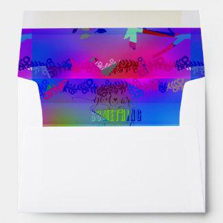 abstract indigo,blue,graphic,poly,design,art,typog envelopes