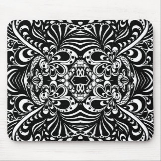 Abstract Ink Peacock Mouse Pad
