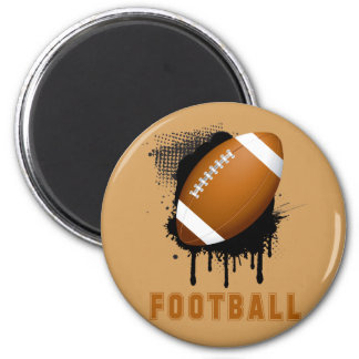 Abstract Ink Splotch with FOOTBALL and TEXT Magnet