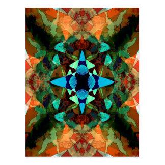 Abstract Inkblot Pattern Postcard