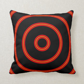 Abstract Inner Circles Throw Pillow
