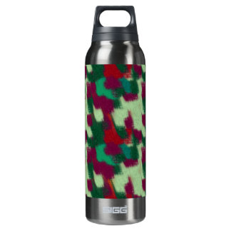 Abstract Insulated Water Bottle