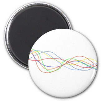 Abstract Interwined Squiggles Refrigerator Magnet