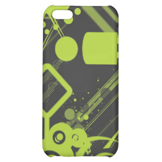 Abstract iPhone case - green and grey iPhone 5C Case