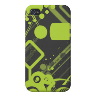 Abstract iPhone case - green and grey iPhone 4 Case