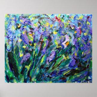 Abstract Iris Flower Fine Art Poster Prints