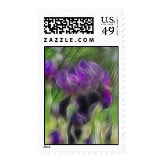 Abstract Iris Postage