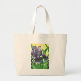 abstract irises canvas bags