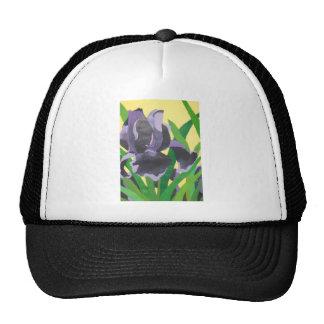 abstract irises trucker hat