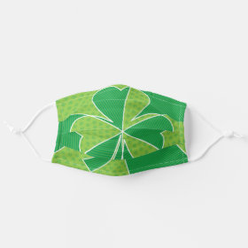 Abstract Irish Shamrock Cloth Face Mask
