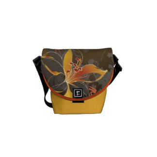 Abstract  Island Floral Mini Zero Messenger Bag