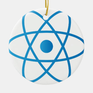 Abstract Isolated Atom Ceramic Ornament