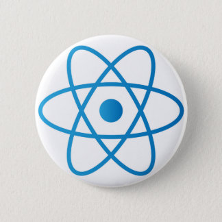 Abstract Isolated Atom Pinback Button