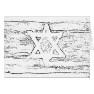 abstract israel black and white card