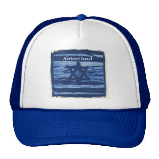 ABSTRACT ISRAEL BLUE TRUCKER HAT