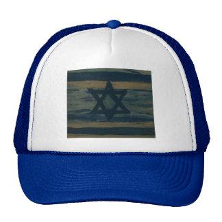 abstract israel trucker hat