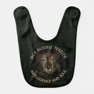 Abstract Jack Russell Terrier Dog Bib
