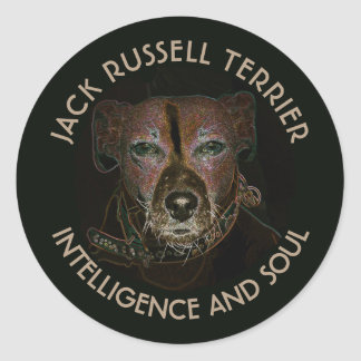 Abstract Jack Russell Terrier Dog Classic Round Sticker