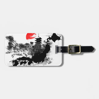 abstract japan - kyoto tag for bags