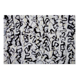 Abstract Japanese Calligraphy Poster