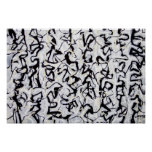 Abstract Japanese Calligraphy Print