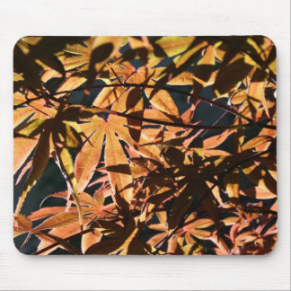 Abstract & japanese Maple Mouse Pad