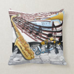 Abstract Jazz Pillow
